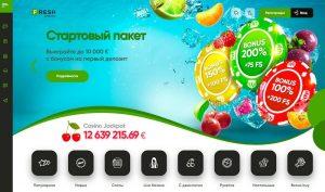 fresh casino main page